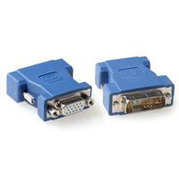 ACT Verloopadapter DVI-A male naar VGA female Kabel adapter - Blauw