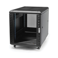 StarTech.com 12U 74 cm diep demonteerbaar serverrack serverkast met wielen Stellingen/racks - Zwart