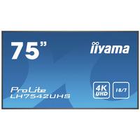 "Iiyama 74.5"", 3840x2160, 16:9, IPS, 8 ms, VGA, HDMI, DP, RS-232C, RK-45, IR, USB, Android OS 8.0, ....."