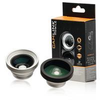 CamLink Macro / Wide Angle / Fish Eye, 20 mm, Macro, Silver / Black, Aluminium / ABS, 180 °