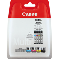 Canon CLI-581 Multipack Cartouche d'encre - Black, Cyan, Magenta, Jaune