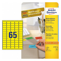Avery Zweckform L4793-20 Etiket - Geel