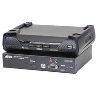 ATEN 3840x2160 30Hz, USB, HDMI, DB-9, 3.5mm, RJ-45, SFP, DC - Noir