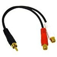 C2G Value Series RCA Plug to RCA Jack x2 Y-Cable - Zwart