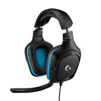 Logitech G G432 7.1 Surround Sound Wired Gaming Headset Casque - Noir,Bleu