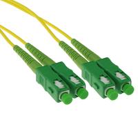 ACT 0.5 metre LSZH Singlemode 9/125 OS2 fiber patch cable duplex with SC/APC connectors Câble de fibre optique