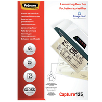 Fellowes ImageLast 125 micron glanzend A4-25pk Lamineerhoes - Transparant