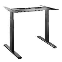 LogiLink Sit-Stand Desk Frame, Metal Bureau - Zwart