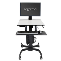 Ergotron WorkFit-C, Single HD Sit-Stand Workstation Multimedia karren & stands - Zwart,Grijs