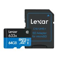 Lexar High-Performance 633x microSDHC/microSDXC UHS-I Mémoire flash - Noir, Bleu