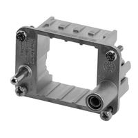 Amphenol Frame for 2-socket modules, Size E6 Multipolaire connectie behuizing - Metallic
