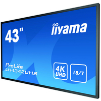 """Iiyama 42.5"""", 3840x2160, 16:9, IPS, 9 ms, VGA, HDMI, DVI, RS-232C, RJ-45, IR, S/PDIF, USB, Android OS 8.0, ....."""