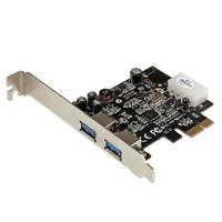StarTech.com Carte Contrôleur PCI Express vers 2 Ports USB 3.0 avec UASP - Alimentation LP4 Adaptateur .....