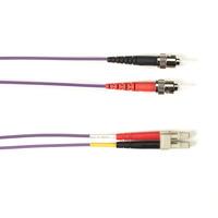 Black Box Câble de raccordement OM1 multimode coloré - LSZH Duplex Câble de fibre optique - Violet