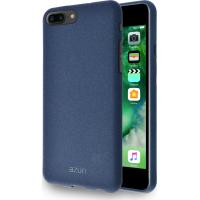 Azuri Flexible cover with sand texture - blauw - voor iPhone 7 Plus /8 Plus