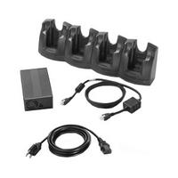 Zebra 4-Slot Ethernet Charge Cradle Kit Chargeur de batterie - Noir