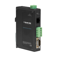 Black Box Hardened Serial Device Server Seriële server - Zwart