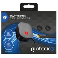 Gioteck PS4 Starter Pack Boitiers et accessoires de jeux d'ordinateurs - Noir