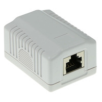ACT Surface mounted box shielded 1 ports CAT6A Boitier de prise de courant - Gris