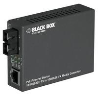 Black Box Convertisseur switché PD PoE Convertisseur réseau média - Noir