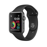 Apple Series 2 Space Grey Aluminium + Zwart Sportbandje 38mm Smartwatch