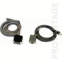 Datalogic CAB-408 RS-232 Pwr Coil 9-Pin Fem Seriële kabel