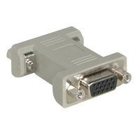 C2G HD15 VGA Changer Kabel adapter - Grijs