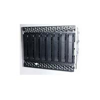Intel 8x2.5 inch Hot Swap SAS/NVMe COMBO Drive Bay Kit AUP8X25S3NVDK Drive bay paneel - Zwart,Roestvrijstaal