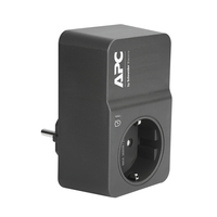 APC Tussenstekker met overspanningsbeveiliging 3680W 1x stopcontact Spanningsbeschermer - Zwart