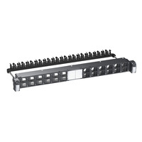 """Schneider Electric Actassi 19-C Patch Panel Flat Angled 19"""" 1U 24pt S-One FTP/STP Empty Patchpaneel - ....."""