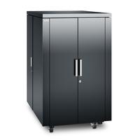 APC NetShelter CX 24U Geluiddempende 'Server Room in a Box', Donker Grijs Stellingen/racks