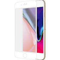 Azuri Curved Tempered Glass RINOX ARMOR - wit frame - voor iPhone 7Plus/8Plus Schermbeschermer - Transparant, Wit