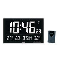 Balance Radio-Controlled Wall Clock LCD Black Wandklok - Zwart