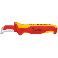 Knipex Cable sleeve knife VDE Snijmessen - Metallic, Rood, Geel