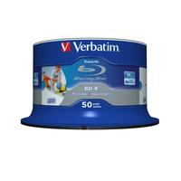 Verbatim BD-R SL Datalife 25GB 6x Wide Inkjet Printable 50 Pack Spindle Disques vierges Blu-Ray