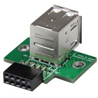 StarTech.com 2-poorts USB moederbord header adapter Interfaceadapter - Zwart,Groen,Roestvrijstaal