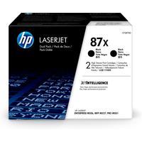 HP 87X 2-pack High Yield Black Original LaserJetCartridges Toner  - Noir