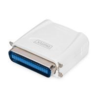 Digitus Parallel Print Server, 1-Port 1x RJ45, 1x DB-36-pin male Centronics Printserver - Wit