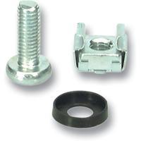 Microconnect Set of Captive Nuts 20 x M6 Pince de câbles - Acier inoxydable