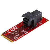 """StarTech.com U.2 (SFF-8643) naar M.2 PCI Express 3.0 x4 adapter kaart voor 2.5"""" U.2 NVMe SSD ....."""