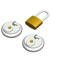 SmartMetals Lock Set f/ the Projector Housing & Tube Set (L1-L2 & Wall Mounts), Stainless Steel Cadenas - .....