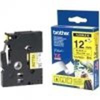 "Brother TZeFX631, 12mm (0.47"") Black on Yellow Flexible ID tape 8m (26.2 ft) Labelprinter tape - Geel"