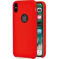 Azuri Rubber cover - rood - voor Apple iPhone X/Xs