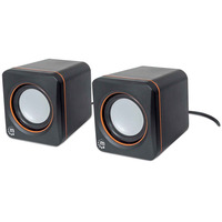 Manhattan 2600 Series Speaker System, Small Size, Big Sound, Two Speakers, Stereo, USB power, 3.5mm plug for .....