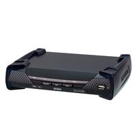 ATEN 4K DisplayPort enkel display KVM Over IP-ontvanger met PoE - Zwart