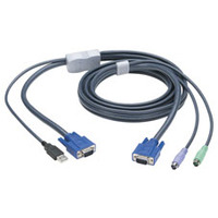 Black Box PS/2 to USB Flash Cable KVM kabel - Zwart