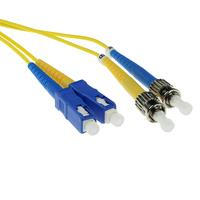 ACT SC-ST 9/125um OS1 Duplex 1.50m (RL2951) 1.5m Fiber optic kabel - Geel