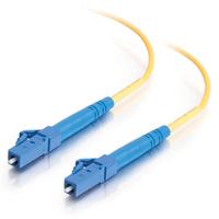 C2G 30m LC-LC 9/125 OS1 Duplex Singlemode PVC Fibre Optic Cable (LSZH) - Yellow Fiber optic kabel - Geel