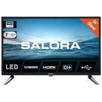 Salora 210 series 24'' (61cm) FULL HD tv met DVB-S2/T2/C en usb mediaspeler Led-tv - Zwart