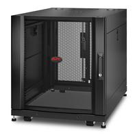 """APC NetShelter SX AR3003 12U 600mm(b) x 900mm(d) 19"""" IT rack met zijpanelen Stellingen/racks - Zwart"""